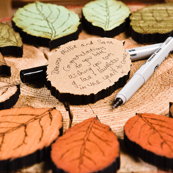 Personalised Leaf Drop Top Guest Book - ZoeGibbons