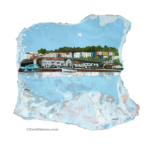 'Hotwells Habourside' limited edition print - ZoeGibbons