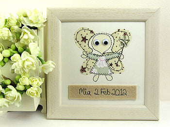 Personalised Fairy Embroidered Plaque - ZoeGibbons
