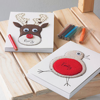 Personalised Embroidered Christmas Notepad - ZoeGibbons