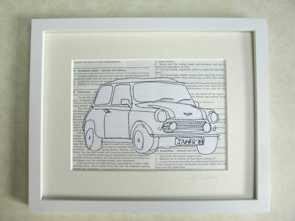 Personalised Mini Embroidered Artwork - ZoeGibbons