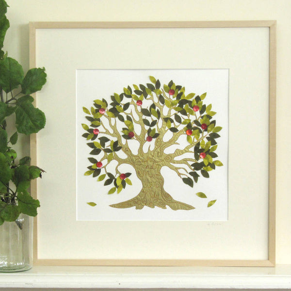 Personalised Embroidered Fruit Tree Artwork - ZoeGibbons