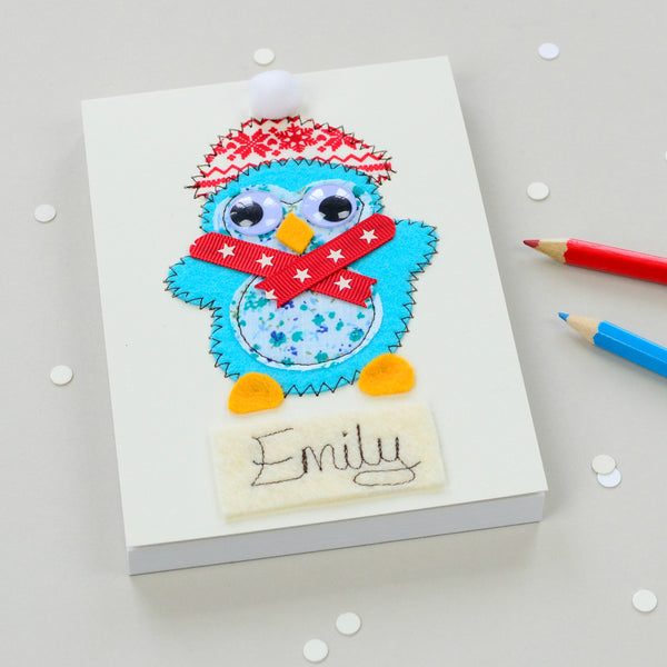 Personalised Arctic Animal Embroidered Notepad - ZoeGibbons
