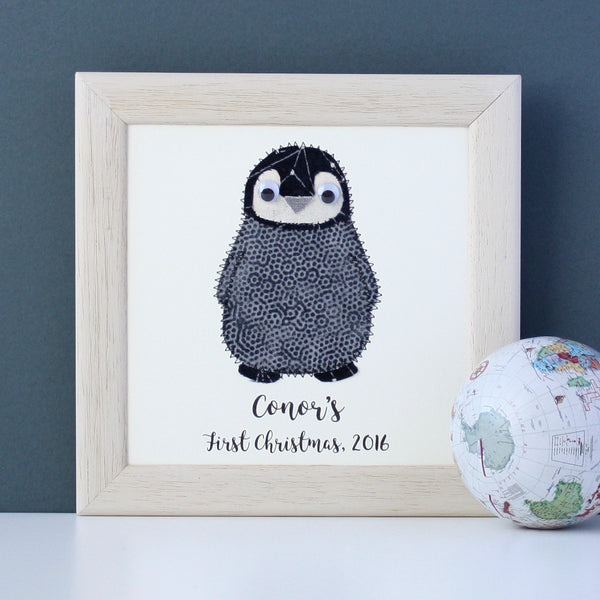 Personalised Baby Penguin Plaque