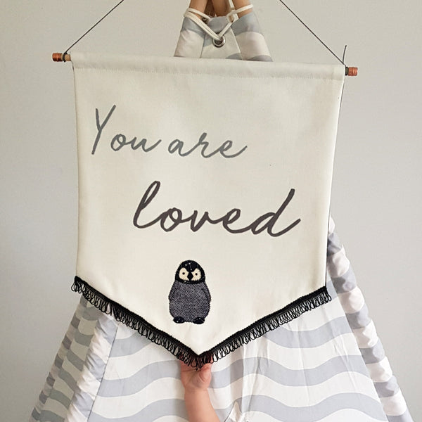 Personalised 'You Are Loved' Embroidered Wall Hanging - ZoeGibbons
