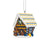 West Virginia Mountaineers Gingerbread House Ornament
