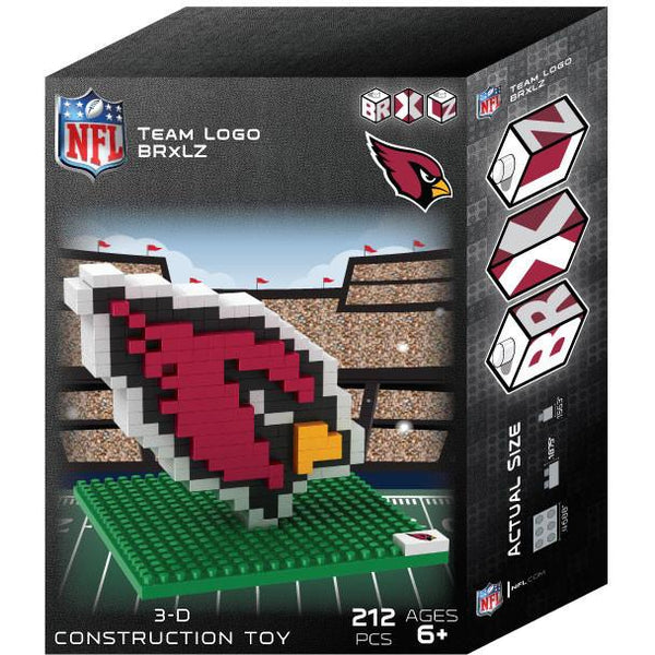 Arizona Cardinals NFL 3D BRXLZ Puzzle Team Logo (SHIPS IN EARLY DECEMBER)