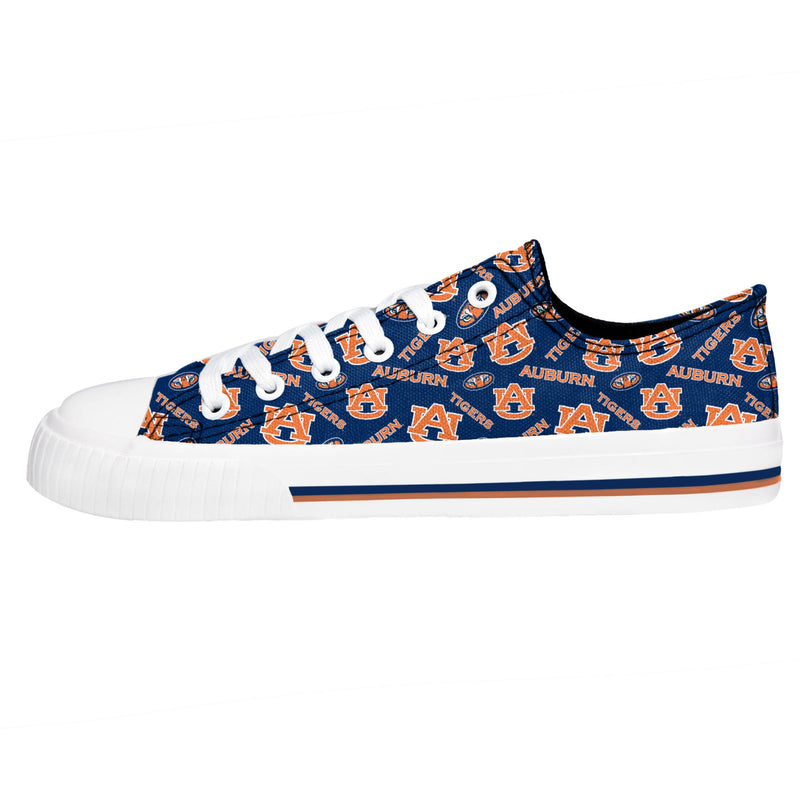Auburn Tigers NCAA Womens Low Top Repeat Print Canvas Shoes