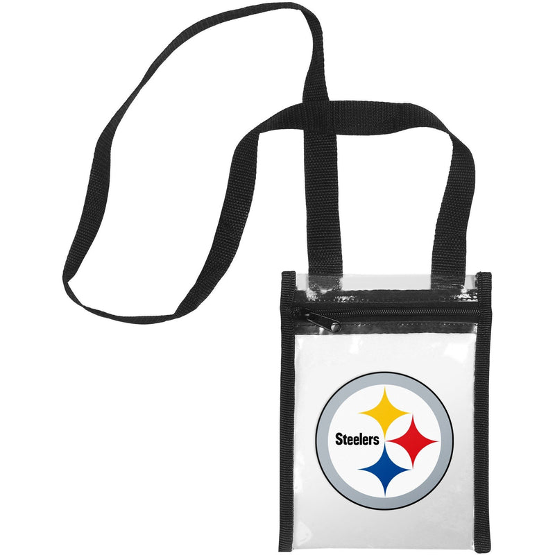 857a3772f5a Pittsburgh Steelers NFL Clear Crossbody Tote Bag