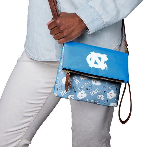 47712bd0fcac9b North Carolina Tar Heels NCAA Printed Collection Foldover Tote Bag