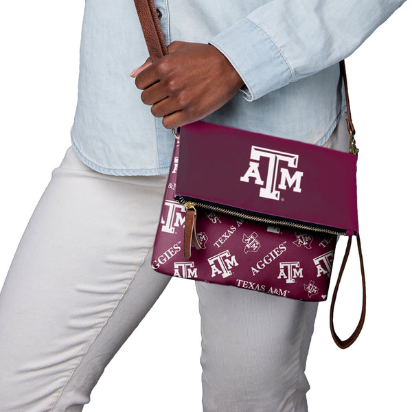 Texas A M Aggies NCAA Printed Collection Foldover Tote Bag 5ba4b4625fc