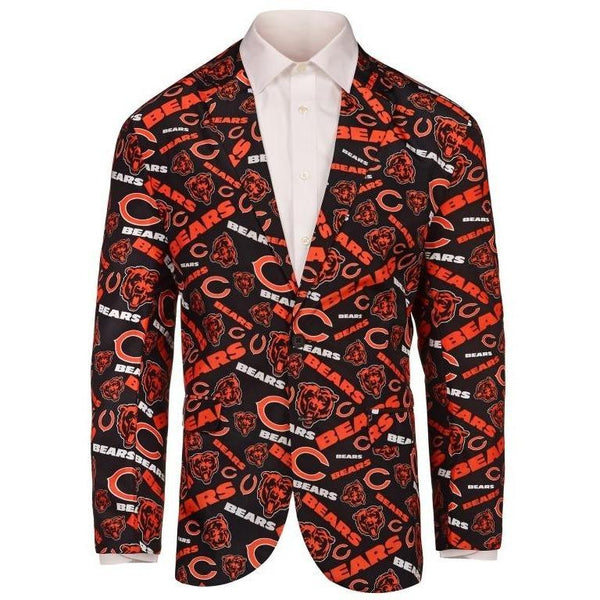 Chicago Bears 2016 NFL Mens Repeat Print Business Jacket
