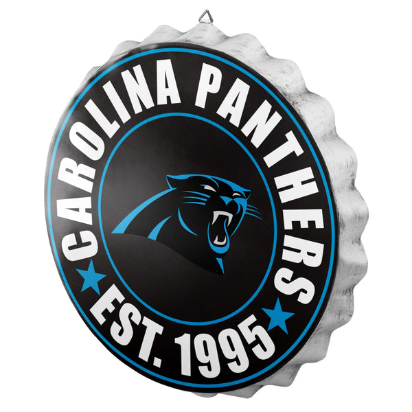 51dd1cd5d Carolina Panthers NFL Bottle Cap Wall Sign (PREORDER - SHIPS IN MARCH)
