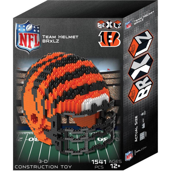 Cincinnati Bengals NFL 3D BRXLZ Puzzle Helmet Set (PRE ORDER - Delivered By 12-19)