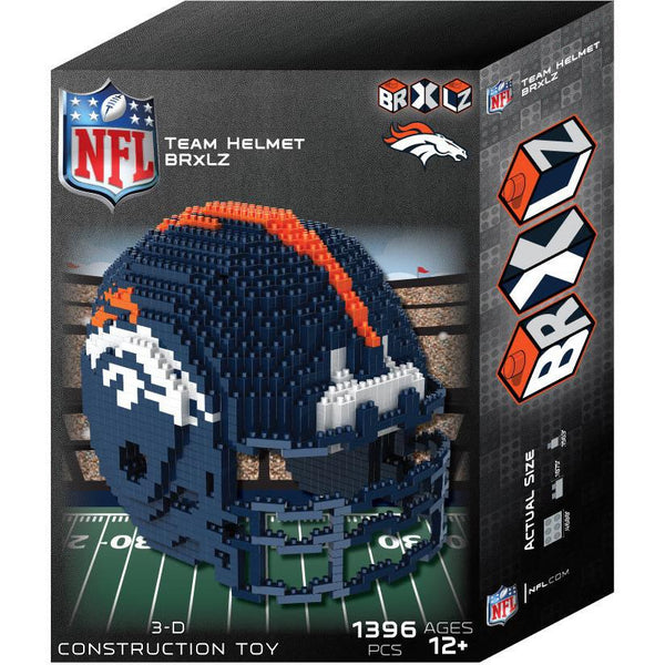Denver Broncos NFL 3D BRXLZ Puzzle Helmet Set (PRE ORDER - Delivered By 12-19)