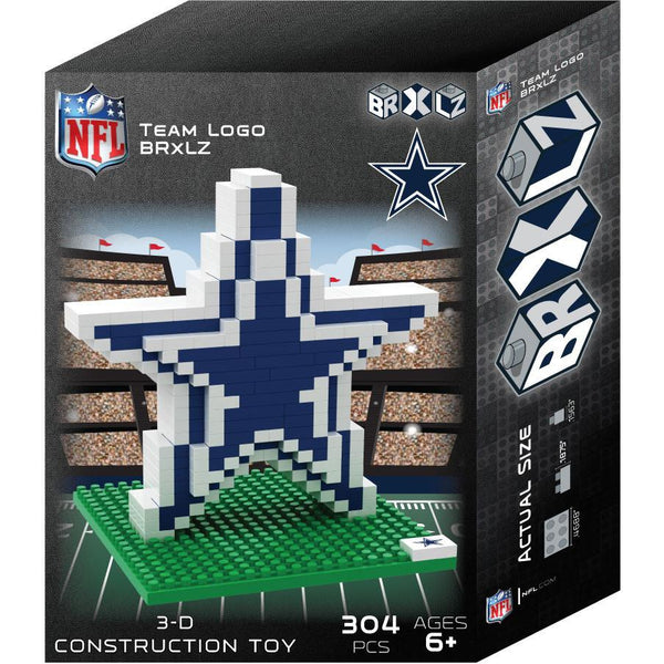 Dallas Cowboys NFL 3D BRXLZ Puzzle Team Logo (SHIPS IN EARLY DECEMBER)