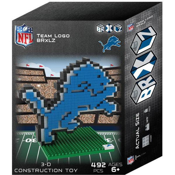 Detroit Lions NFL 3D BRXLZ Puzzle Team Logo (SHIPS IN EARLY DECEMBER)