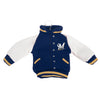 Milwaukee Brewers MLB Fabric Varsity Jacket Ornament