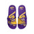LSU Tigers NCAA Mens Colorblock Big Logo Gel Slides