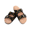 Pittsburgh Pirates MLB Womens Team Logo Double Buckle Sandal
