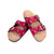 St Louis Cardinals MLB Womens Team Logo Double Buckle Sandal