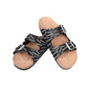 Las Vegas Raiders NFL Womens Mini Print Double Buckle Sandal