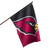 Arizona Cardinals NFL Vertical Flag