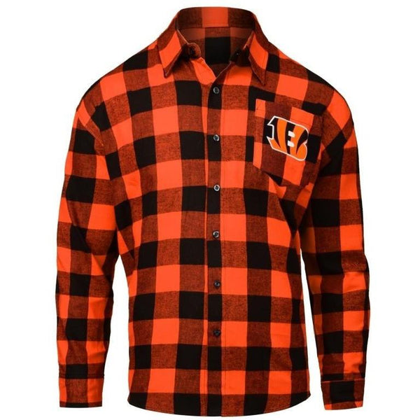 Cincinnati Bengals 2016 Mens Large Check Flannel Shirt