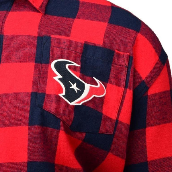 Houston Texans 2016 Mens Large Check Flannel Shirt