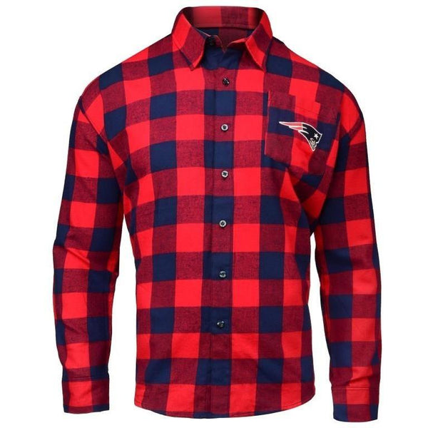 d903d4b4659 New England Patriots 2017 Mens Large Check Flannel Shirt
