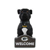 Green Bay Packers NFL American Staffordshire Terrier Statue
