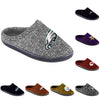 NFL Mens Poly Knit Cup Sole Slippers