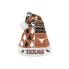 Texas Longhorns NCAA Busy Block Family Holiday Santa Hat
