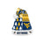 West Virginia Mountaineers NCAA Busy Block Family Holiday Santa Hat