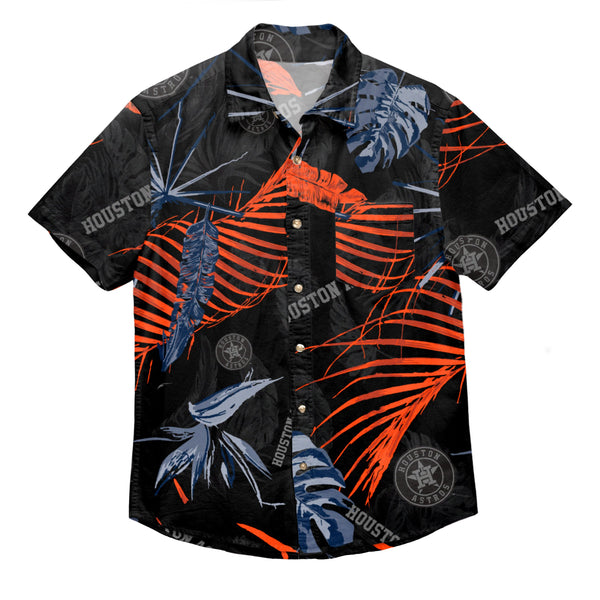 48dcaf024 Houston Astros MLB Mens Neon Palm Button Up Shirt (PREORDER - SHIPS IN JUNE)