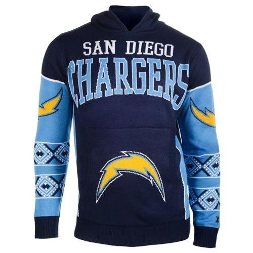 new product e3a45 d1c7b San Diego Chargers Big Logo Hooded Sweater