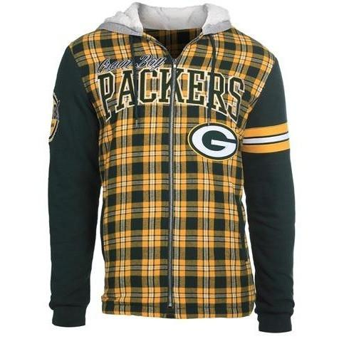 best service 1dd42 a4eaf NFL Flannel Hooded Jackets - Pick Your Team!