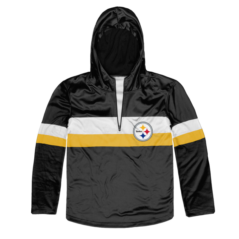 sale retailer d87b0 5daa9 Pittsburgh Steelers Quarter Zip Hoodie
