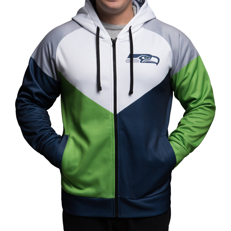 the latest 2cf9f de67a Seattle Seahawks NFL Mens Hooded Track Jacket