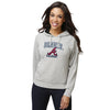 Atlanta Braves MLB Womens Gray Woven Hoodie (PREORDER - SHIPS LATE MARCH)