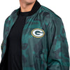 Green Bay Packers NFL Mens Camo Bomber Jacket