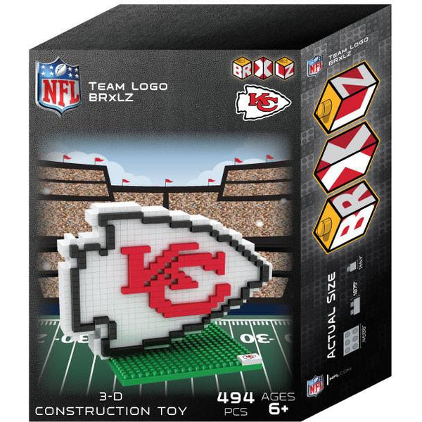 Kansas City Chiefs NFL 3D BRXLZ Puzzle Team Logo (SHIPS IN EARLY DECEMBER)