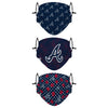 Atlanta Braves MLB Gameday Gardener 3 Pack Face Cover