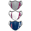 Atlanta Braves MLB Sport 3 Pack Face Cover (PREORDER - SHIPS MID MARCH)