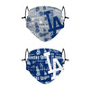 Los Angeles Dodgers MLB Logo Rush Adjustable 2 Pack Face Cover