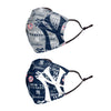 New York Yankees MLB Logo Rush Adjustable 2 Pack Face Cover