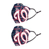 Washington Nationals MLB Logo Rush Adjustable 2 Pack Face Cover