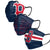 Boston Red Sox MLB Mens Matchday 3 Pack Face Cover