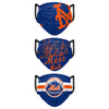 New York Mets MLB Mens Matchday 3 Pack Face Cover