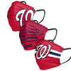 Washington Nationals MLB Mens Matchday 3 Pack Face Cover